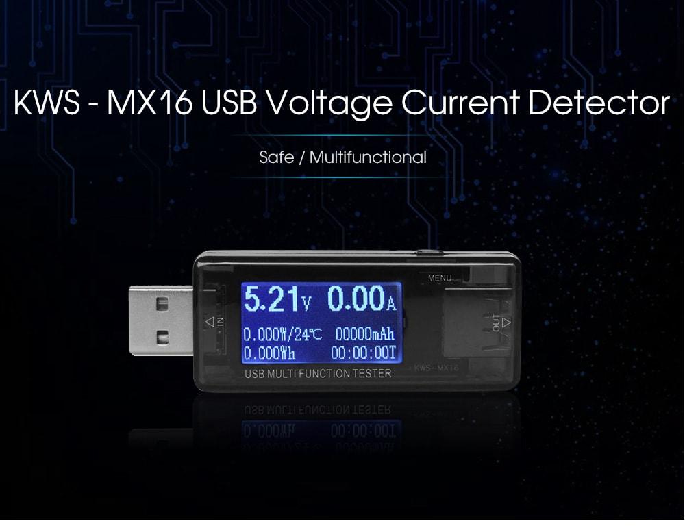 KWS - MX16 Multifunctional USB Voltage Current Detector 4 - 30V