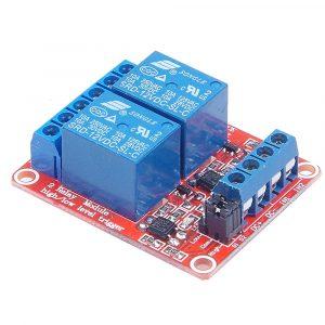 2路5V繼電器模組 光耦隔離 可設定高低電平觸