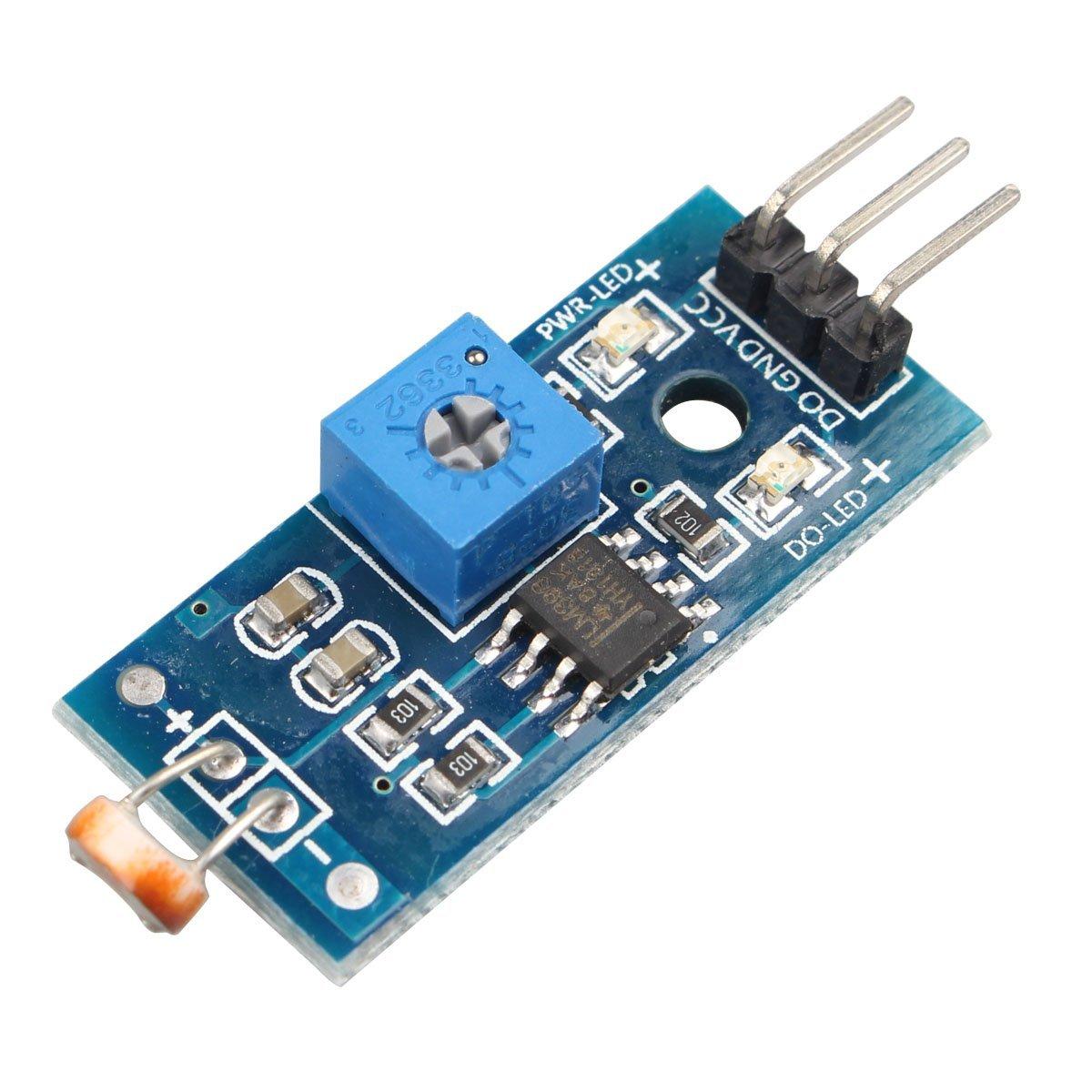 4針光敏電阻感測器模組  光線檢測光敏電阻模組