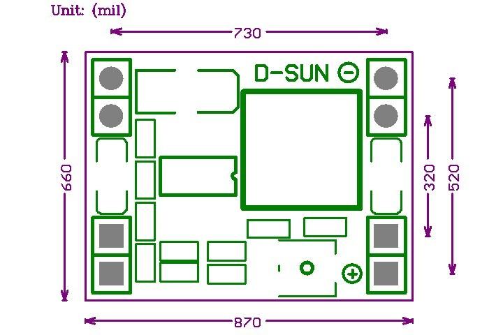 MP1584EN DC-DC 降壓電源模組