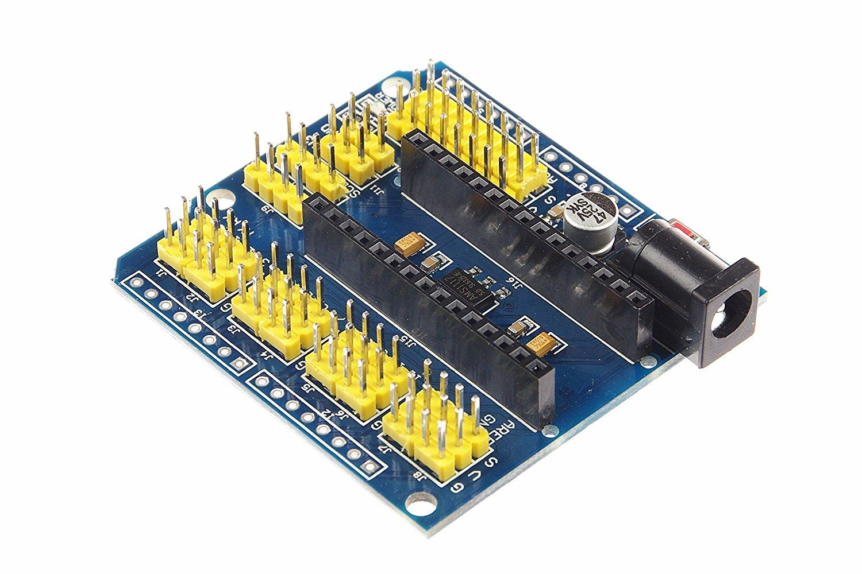 Arduino NANO IO 多功能擴展板 支援外部電源 方便接線 UNO R3 也適用