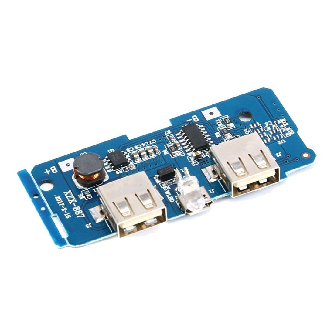 18650 電池 3.7V 轉 5V2A 升壓模組 DIY 行動電源模組 雙 USB 輸出