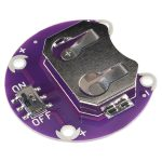 CR2032 鈕扣電池座含開關 – 20毫米 支援 LilyPad 銜接 Sparkfun 進口