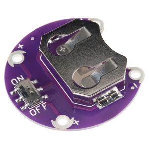 CR2032 鈕扣電池座含開關 - 20毫米 支援 LilyPad 銜接 Sparkfun 進口