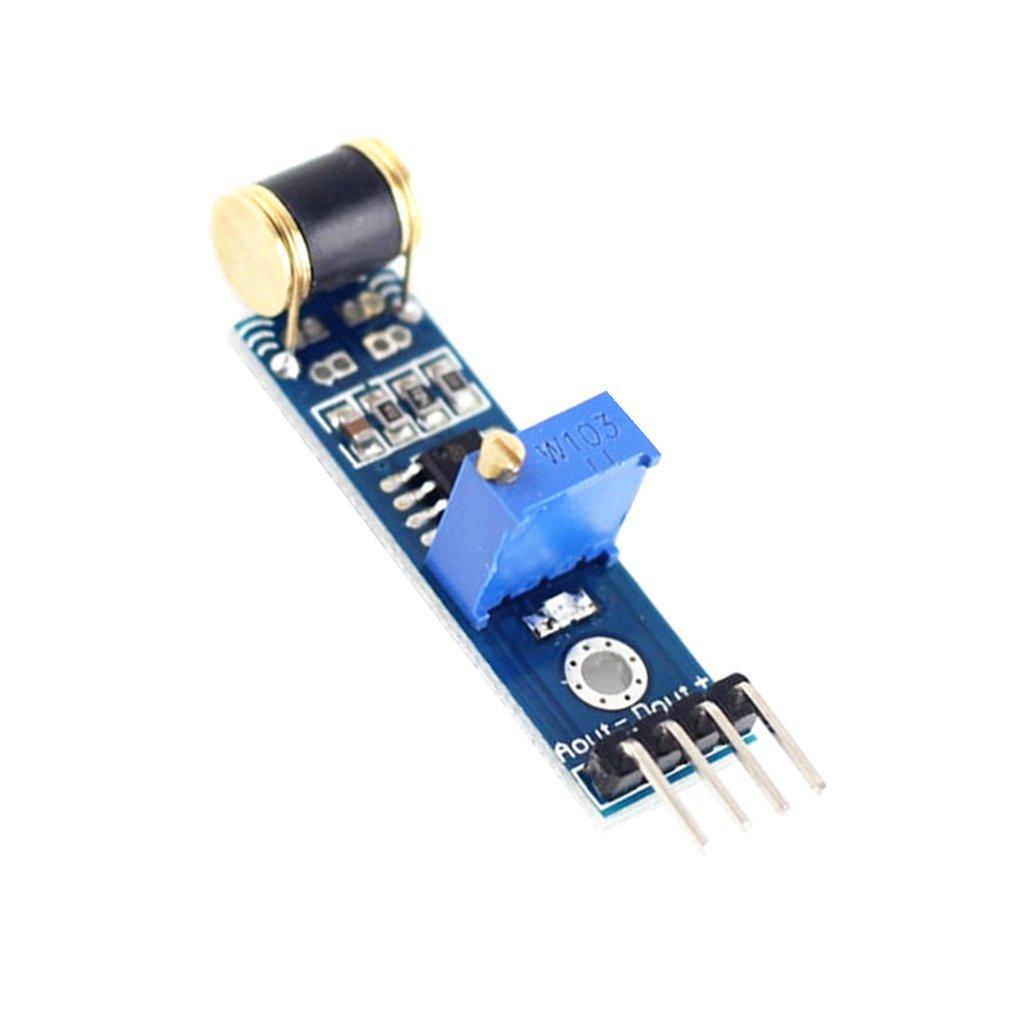 801S 高靈敏度振動/震動感測器模組 模擬信號輸出 靈敏度可調