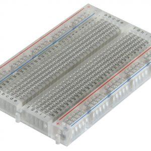 透明迷你小麵包板 400孔 迷你麵包板(透明)84X55 mm
