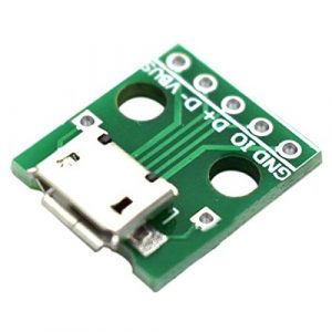 MICRO USB 轉 Dip 母座 B型 邁克 5p 貼片轉直插已焊接母頭