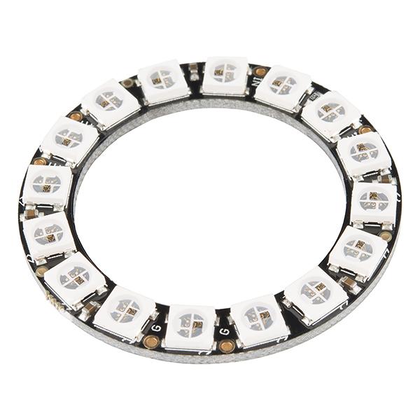 16位 WS2812 5050 RGB LED 內置全彩驅動彩燈 圓形開發板
