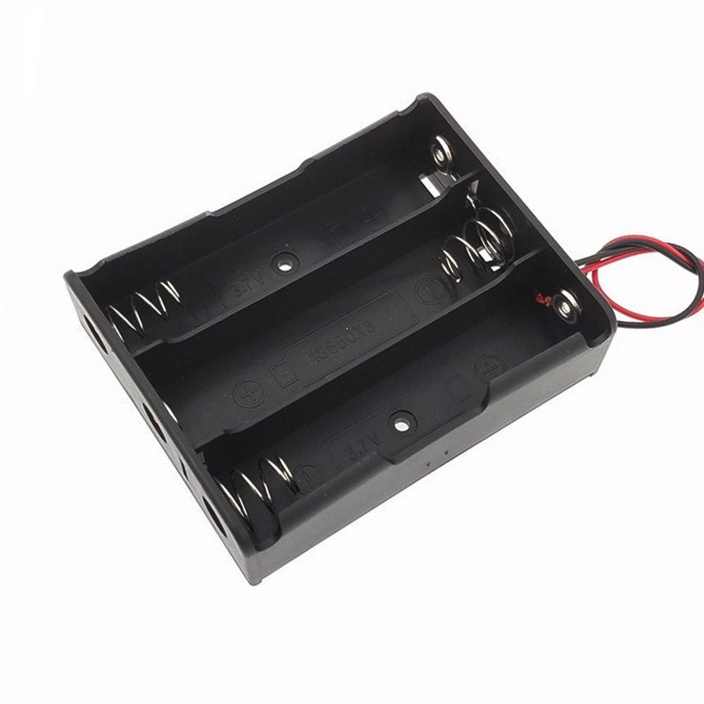 18650 三節 電池盒 帶紅黑線 串聯 3節