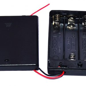 4 x 2A 四節 3號電池座(AA)6V 電池座帶開關與電池座蓋 串聯 帶開關帶蓋子