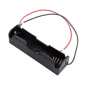 18650 鋰電池 1節帶線電池盒 單顆鋰電池 充電電池 串聯 充電 帶紅黑線