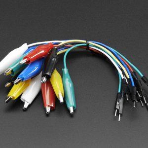 杜邦頭轉鱷魚夾線杜邦線帶鱷魚夾子 5色 20CM 長度 適用 Micro:BIT & Arduino  10條一包