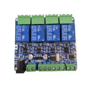 Modbus RTU  RS485 4路 繼電器模組四路輸入 帶光耦隔離 支援 Arduino