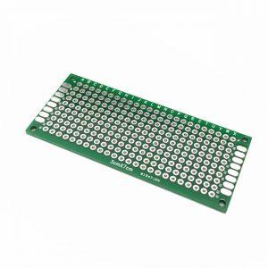 3x7cm PCB 玻璃纖維電路板 洞洞板 雙面 3*7公分 電路板 PCB 玻璃纖維 雙面鍍錫 雙面噴錫