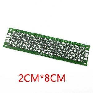 2x8cm PCB 玻璃纖維電路板 洞洞板 雙面 2*8公分 電路板 PCB 玻璃纖維 雙面鍍錫 雙面噴錫