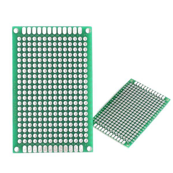 4x6cm PCB 玻璃纖維電路板 洞洞板 雙面 4*6公分 電路板 PCB 玻璃纖維 雙面鍍錫 雙面噴錫
