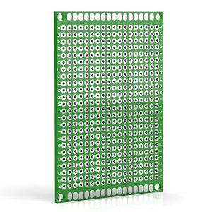 5x7cm PCB 玻璃纖維電路板 洞洞板 雙面 5*7公分 電路板 PCB 玻璃纖維 雙面鍍錫 雙面噴錫