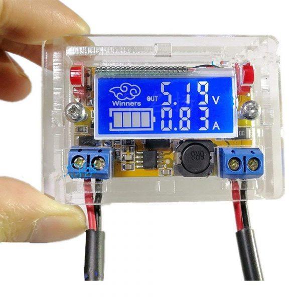 3A DC-DC 直流可調降壓穩壓電源模組  液晶螢幕顯示 電壓 電流 開發實驗環境神器