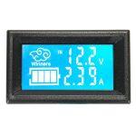 10A/100V 直流雙顯獨立供電 數位電壓電流表 數位顯示 溫度 RS485接口 支援Modbus協定