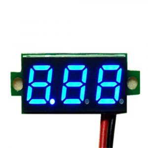藍色冷光 數位雙線制電壓表頭 0.36吋 LED 顯示 DC4V~30V 電壓表頭反接保護