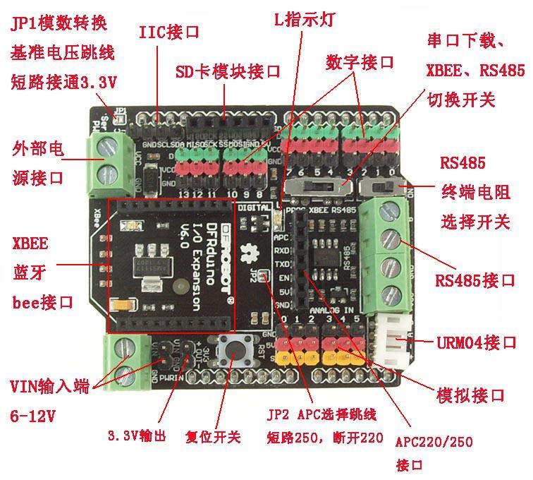 Arduino RS485, Xbee IO 傳感器擴展板