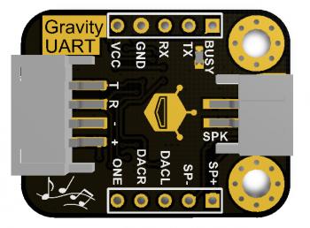 Arduino 串口型 MP3 語音撥放模組 Gravity: UART MP3 Voice Module