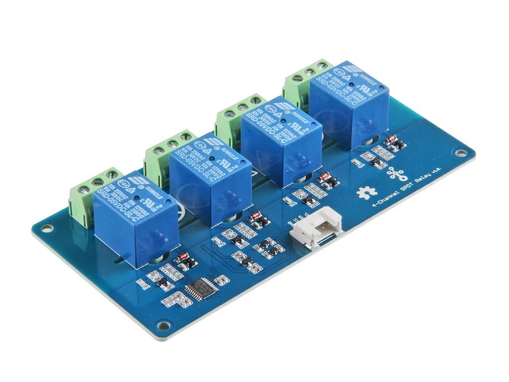 Grove 4路 I2C SPDT 繼電器模組