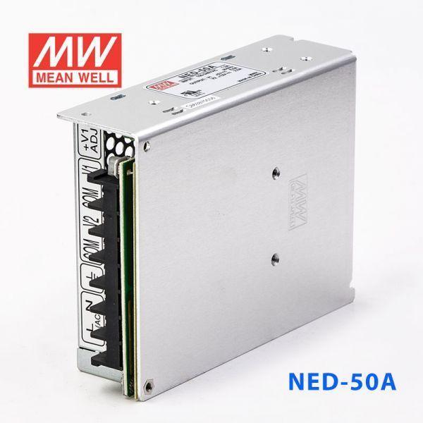 明緯 50W DC直流雙電壓輸出開關電源