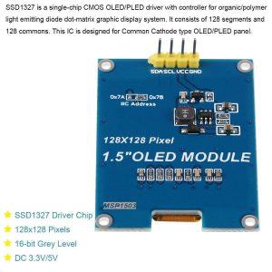 1.5吋 OLED 液晶顯示模組
