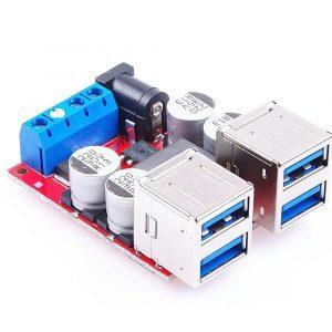 DC 電源降壓模組 8-35V 降壓 5V 8A 4路USB 輸出