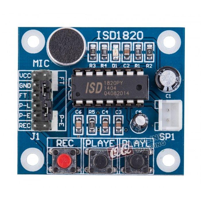 ISD1820 Sound Voice Recording /& Playback Module Arduino PI 0.5W Loudspeaker