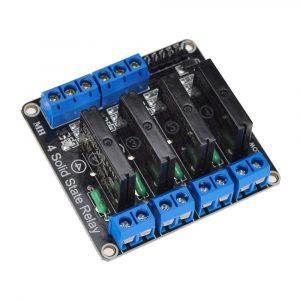 4路5V低電平觸發固態繼電器模組  SSR 固態繼電器 帶保險絲