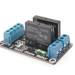 2路5V低電平觸發固態繼電器模組  SSR 固態繼電器 帶保險絲