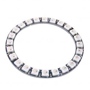 24位 WS2812 5050 RGB LED 全彩驅動環形彩燈開發板 NeoPixel Stick 副廠