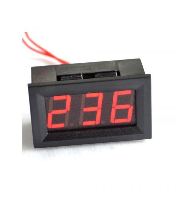 LED 二線數位型 AC 交流電壓表頭 市電 70V-380V-500V