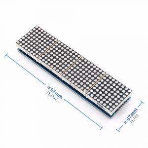 MAX7219 32x8 LED點陣矩陣顯示模組  4合一顯示