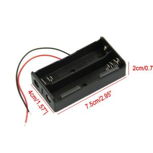 2節18650並聯電池盒加長款 兩節並聯
