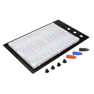 1660 孔麵包板實驗平台 免焊式電路測試平台