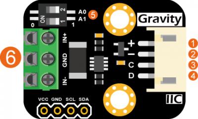 Gravity: I2C Digital Wattmeter 數位功率計