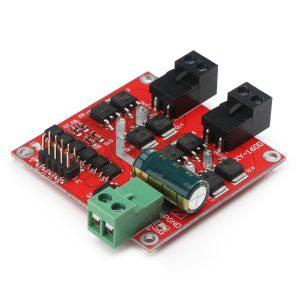 H橋L298邏輯 雙路電機驅動模組 12/24V/7A 160W 雙路直流電機驅動板 光耦隔離 欠壓過流保護
