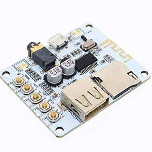 無線藍牙音訊接收板模組 解碼播放 帶USB TF卡 前級輸出
