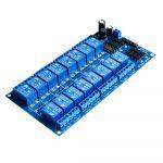 12V 16路 繼電器 模組、繼電器 控制 板、帶光耦保護、帶LM2576
