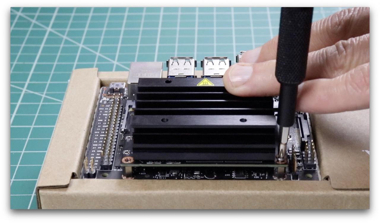 Remove module screws