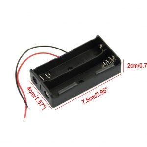 2節18650 串聯電池盒 兩節串聯 帶線2節 7.4V 電池盒串聯充電