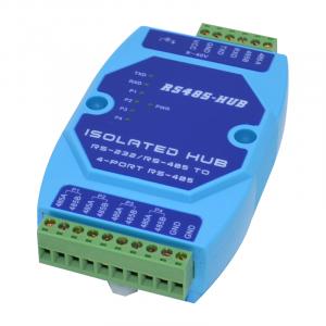 工業級光電隔離型 485 4路 集線器 RS485分配器 485共享器