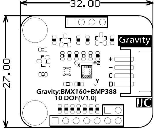 Gravity: BMX160+BMP388 10 DOF