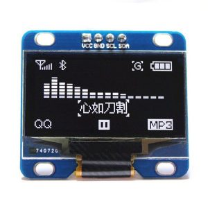新款 0.96寸 OLED 液晶顯示模組 白字黑底 I2C/IIC 通信 128*64  已焊接針腳