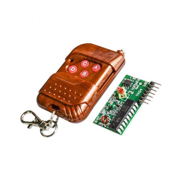 2262/2272 四路無線遙控套件 M4 非鎖型 接收板配四鍵 無線遙控器
