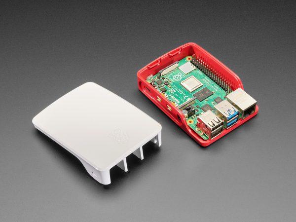 Raspberry Pi Foundation Raspberry Pi 4保護套-紅白色 | 樹莓派官方原廠紅白草莓外殼