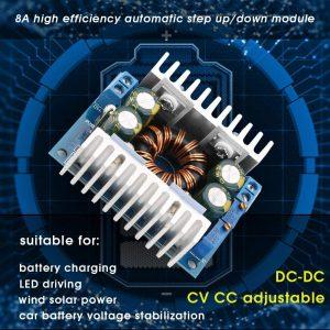 直流自動升降壓恒壓恒流可調電源模組 8A 5-30V 轉 1.25-30V  太陽能風能電池穩壓充電